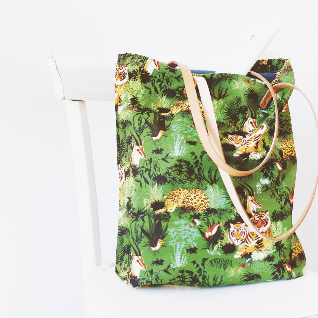 MB - Tote Bag à motif Safari - Fabriqué en France