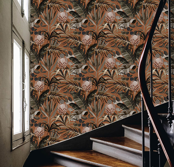 Univers - Tropical 16 - Papier-peint escalier