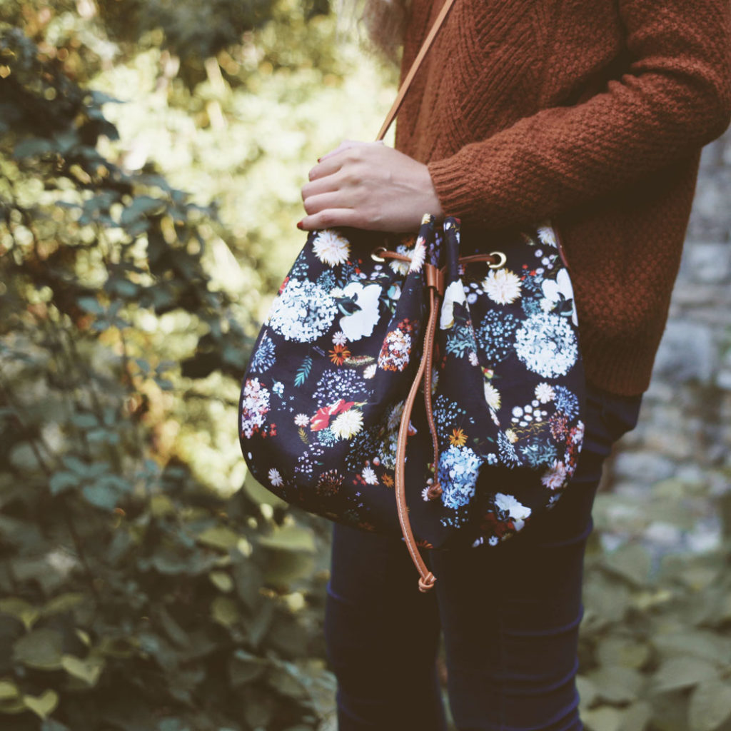 MB - Sac bourse Floral N°02 - Made in France