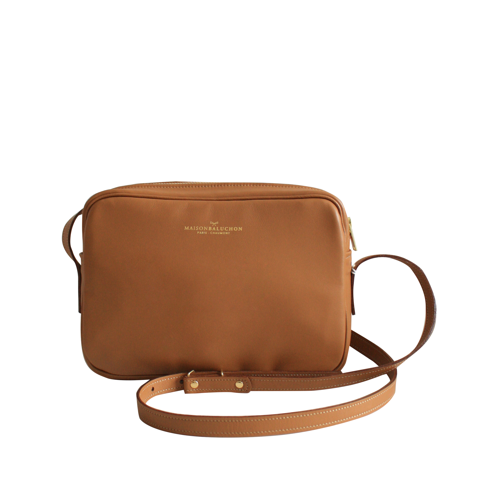 Sac à main Crossbody - Cuir Camel