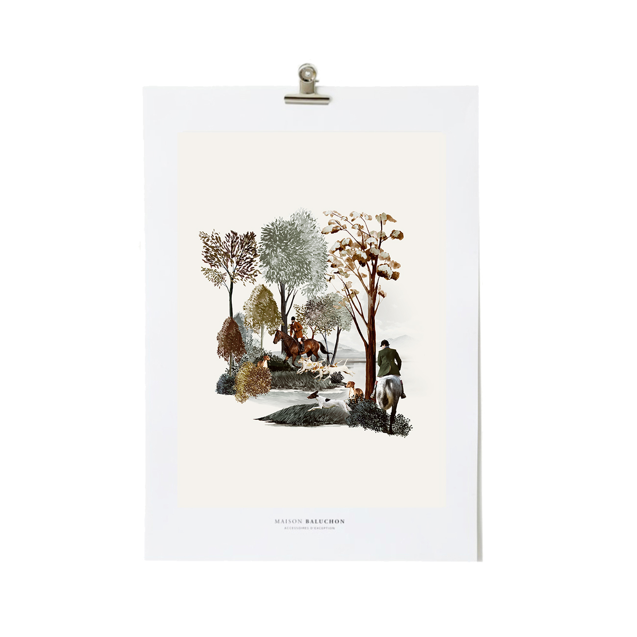 Illustration Format A4 Forêt N°24