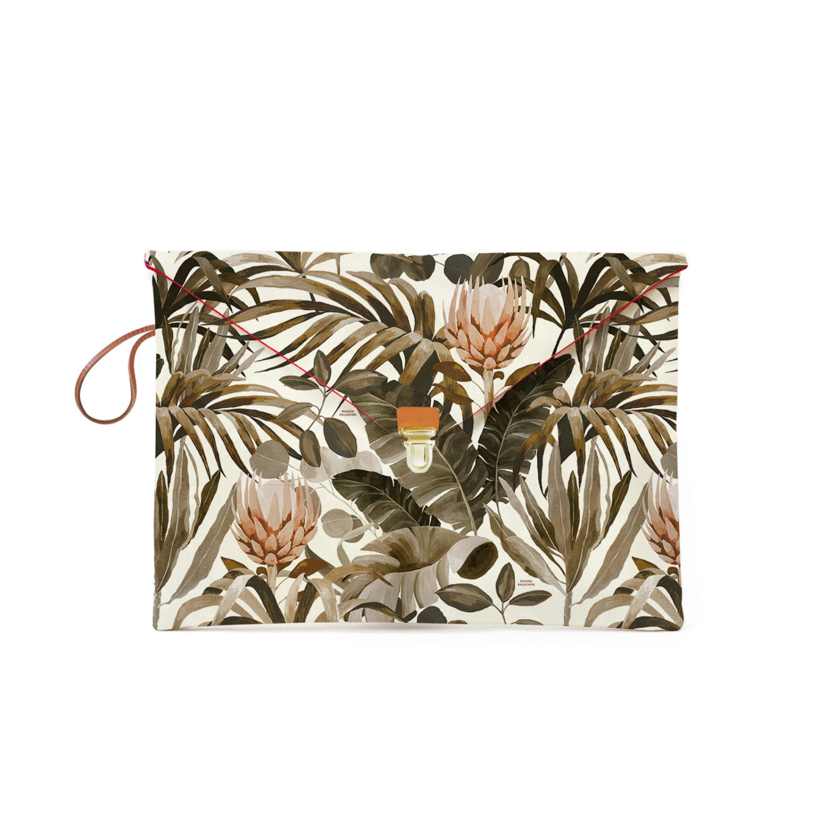 Pochette MacBook avec un motif Tropical N°14