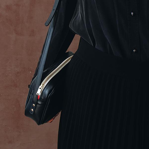 Maison Baluchon - crossbody, sac à main cuir - Dark blue