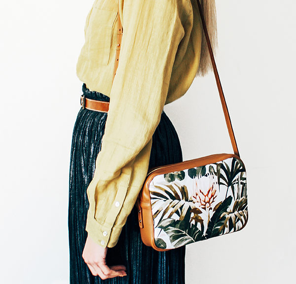 Maison Baluchon - crossbody, sac à main cuir - Tropical n°14