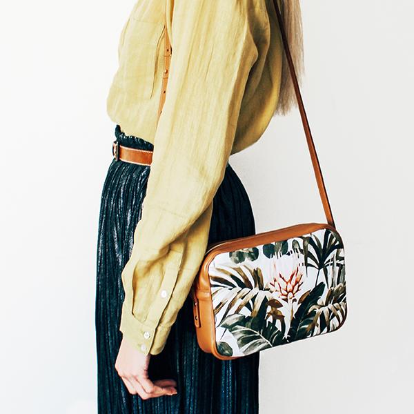 Maison Baluchon - crossbody, sac à main cuir - Tropical n°14