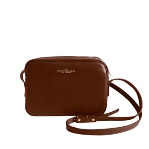 Sac à main Crossbody auburn grainé en cuir
