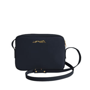 Sac à main Crossbody Dark blue Grainé - Estampé