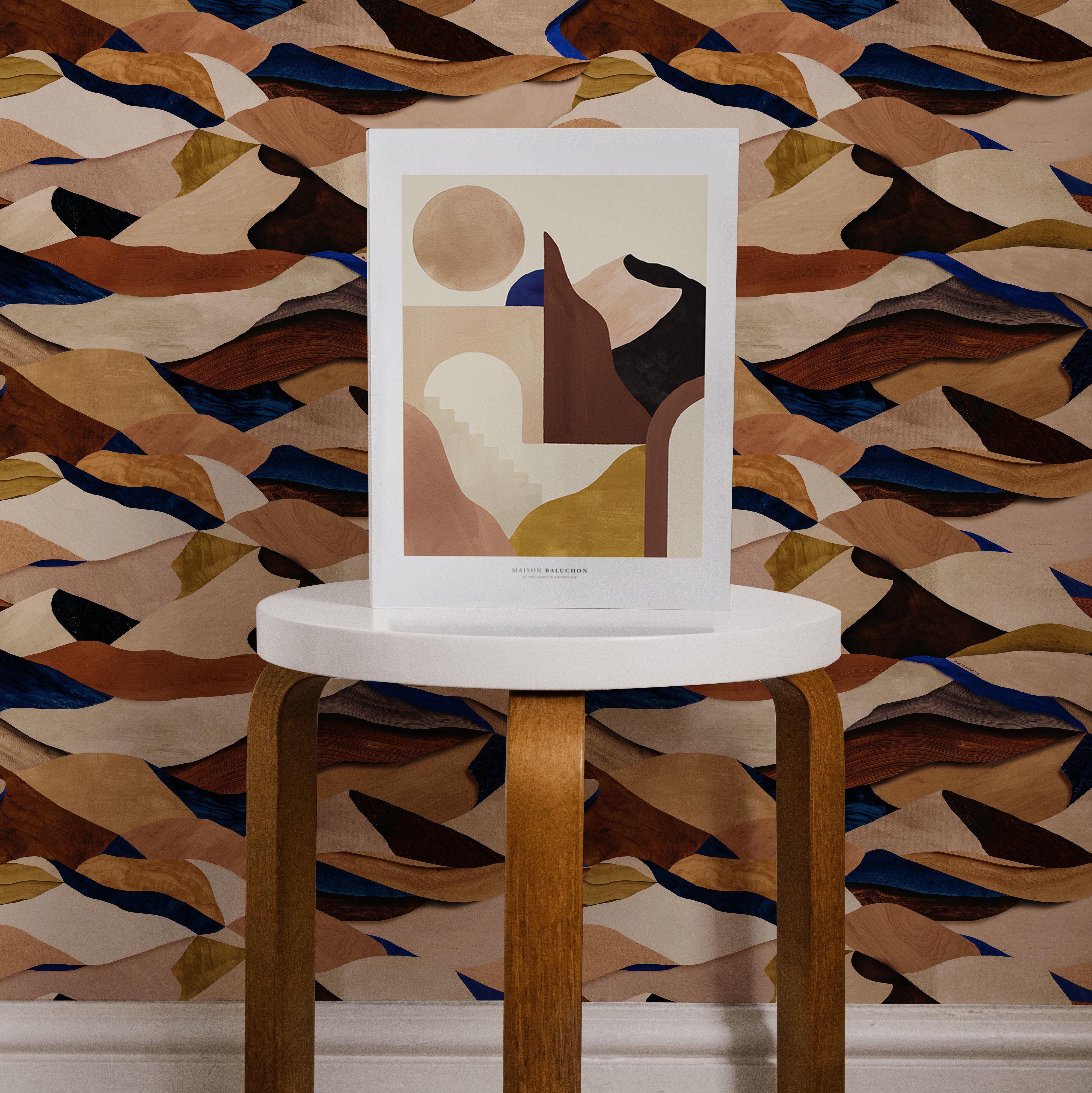 Maison Baluchon Illustration Graphique N°13 et papier peint