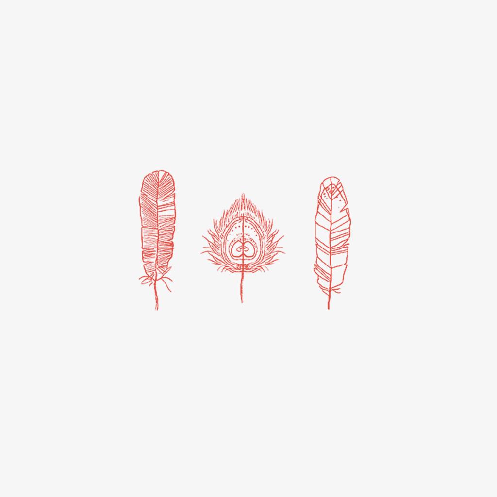 MB - Petite Plume Rouge Illustration - Made FR