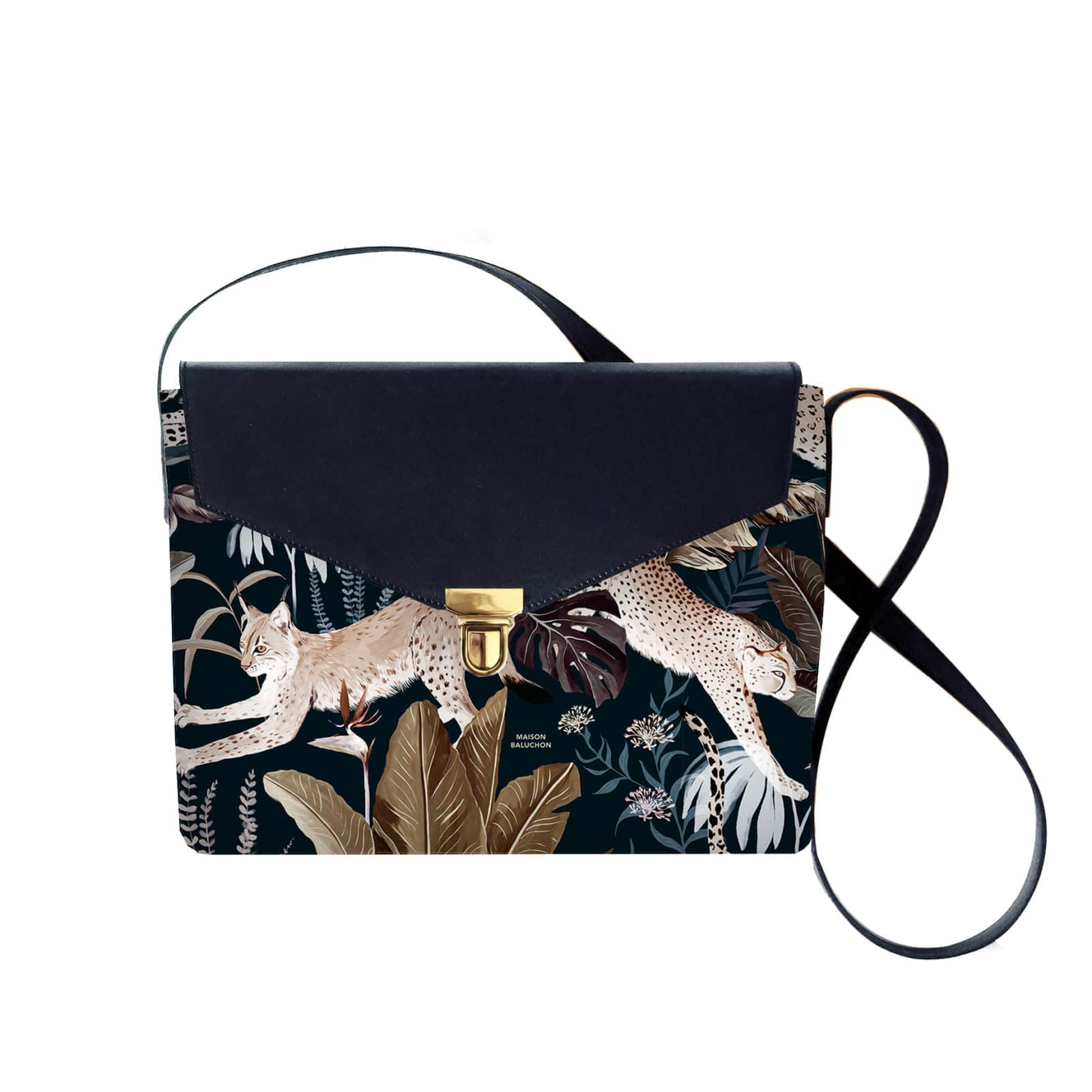 Maison Baluchon – Sacoche – purse – jungle N°22 – darkblue