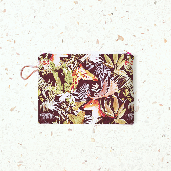 MB - Petite Pochette Zippée - Antilope