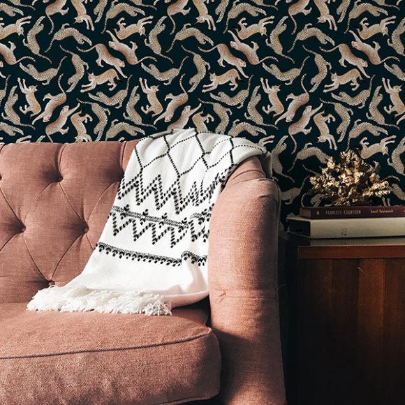 Maison Baluchon - Wallpaper Félin N°01