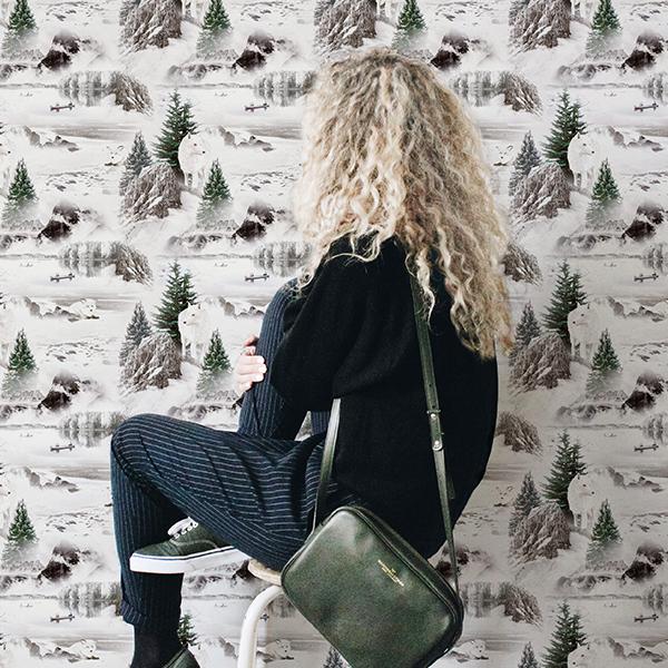 MB - Papier Peint Forêt N°23 - Crossbody vert
