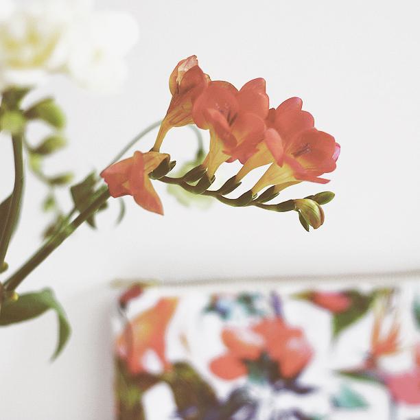 MB - Pochette Zippée - Inspiration Fleurie